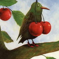 <b>Птица</b> <b>с</b> вишнями Rudi Hurzlmeier гифка анимация