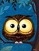 <b>Сова</b> <b>с</b> огромными глазами гифка анимация