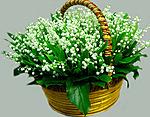 Весенние  цветы смайлики гифки анимации