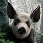 <b>Поросенок</b> в лесу гифка анимация