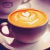 <b>Кофе</b> с сердечком на пене гифка анимация