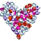 Сердечко <b>из</b> драгоценных <b>камней</b> гифка анимация