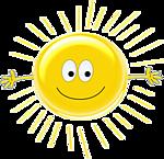 Солнце, солнышко смайлики гифки анимации