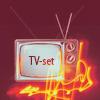 <b>Телевизор</b> <b>с</b> надписью на экране (tv-set) гифка анимация