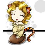 Девочка <b>с</b> хвостом <b>тигра</b> гифка анимация