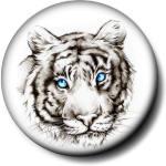 Грустный <b>тигр</b> <b>с</b> голубыми глазами гифка анимация