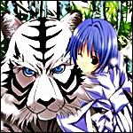 Девочка <b>с</b> белым <b>тигром</b> гифка анимация