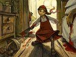 Красная шапочка борется <b>с</b> <b>волком</b> гифка анимация