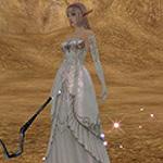 <b>Светлая</b> эльфийка в свадебном платье гифка анимация