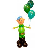 <b>ВДВ</b>. Фигурка солдата из шариков гифка анимация