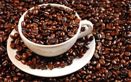 17 апреля. Международный день <b>кофе</b>. Чашечка с зернами <b>кофе</b> гифка анимация