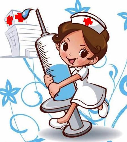Открытка с днем медицинской сестры! <b>Сестричка</b> несет шприц... гифка анимация