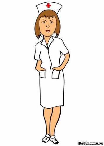 Открытка с днем медицинской сестры! <b>Сестричка</b> в белом хал... гифка анимация
