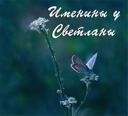 Именины имени <b>Светлана</b>, день ангела гифка анимация