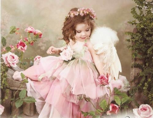 Открытки. <b>С</b> именинами! <b>С</b> <b>днем</b> <b>ангела</b>! <b>Ангел</b> в розовом пла... гифка анимация