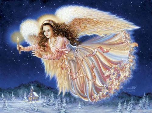 Открытки. <b>С</b> именинами! <b>С</b> <b>днем</b> <b>ангела</b>! <b>Ангел</b> летит со свечой гифка анимация