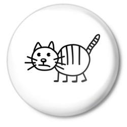 Рисунок кота полосатого