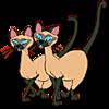 Коты. Сиамские <b>близнецы</b> гифка анимация