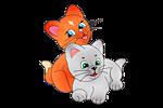 <b>Котята</b> рыжий и серый гифка анимация
