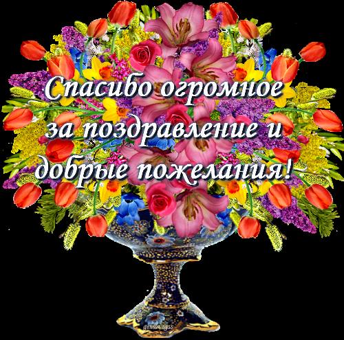 Поблагодарить за поздравление днем рождения