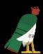 Ба. <b>Птица</b> <b>с</b> головой, иногда и руками, человека гифка анимация