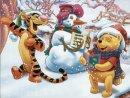 <b>Тигра</b>, <b>с</b> снеговик и Винни гифка анимация