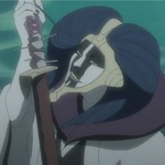 Маюри-<b>сама</b> держащий в руке катану из аниме блич гифка анимация