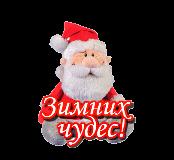 Новый год и Рождество Зимних чудес от Санты смайлик гиф анимация
