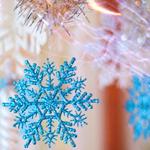 <b>Новогодние</b> украшения - снежинки гифка анимация