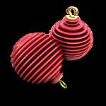 <b>Новогодние</b> игрушки-шарики красные в полосочку гифка анимация