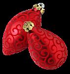 <b>Новогодние</b> игрушки- красные разной формы гифка анимация