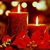 <b>Новогодние</b> свечи красные гифка анимация