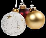 <b>Новогодние</b> игрушки. Шары белые и золотые гифка анимация