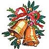 <b>Новогодние</b> колокольчики гифка анимация