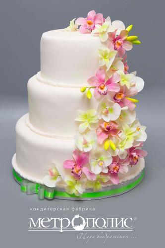 День кондитера. Торт с <b>орхидеями</b> гифка анимация