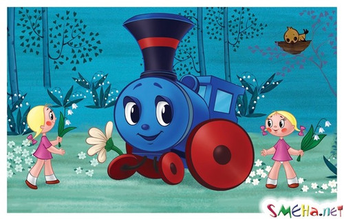 С <b>Днем</b> <b>железнодорожника</b>! Советская открытка гифка анимация
