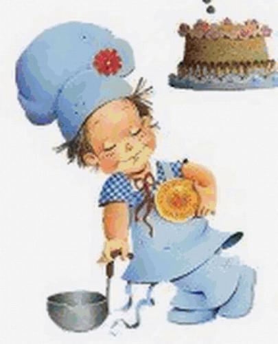 Праздники Международный День повара. Маленький повар смайлик гиф анимация