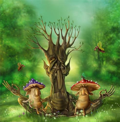 <b>С</b> <b>Днем</b> <b>Работников</b> <b>Леса</b>! Сказочный <b>лес</b> гифка анимация