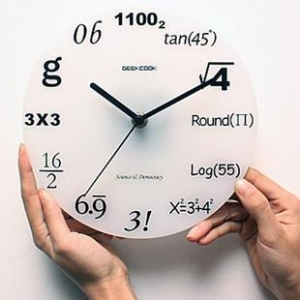 <b>Настенные</b> часы Забавная математика гифка анимация