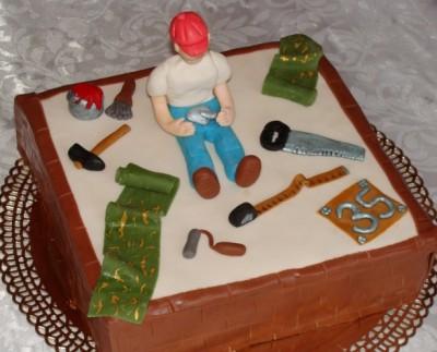 Праздники Торт для строителя смайлик гиф анимация