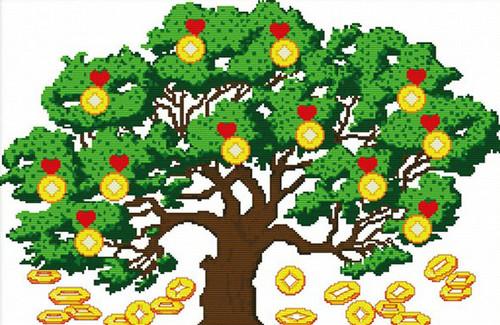 Открытка. <b>С</b> <b>днем</b> <b>финансиста</b>. Поздравляем. Дерево выращива... гифка анимация
