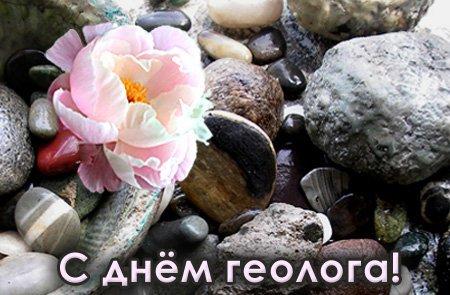 Открытки. <b>С</b> <b>днем</b> <b>геолога</b>! Цветок среди камней гифка анимация