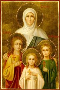<b>Вера</b>, <b>Надежда</b>, <b>Любовь</b> и мать их София. Лики великомучениц гифка анимация
